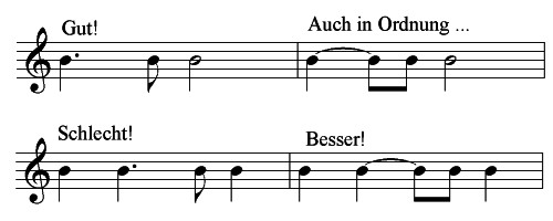 Richte Notation von punktierten Rhythmen